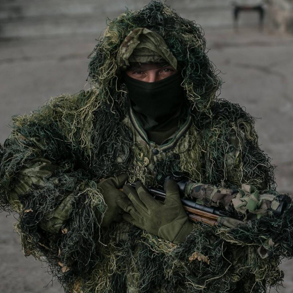 Грузинский снайпер, воюющий за Украину