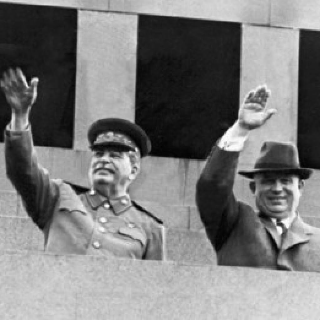Сталин и Хрущов