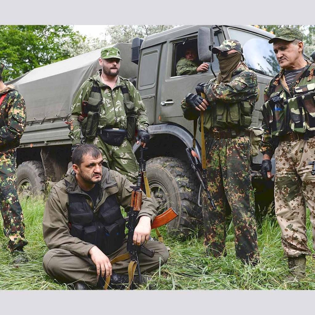 Бойцы батальона «Восток» в тренировочном лагере формирования в Донецкой области