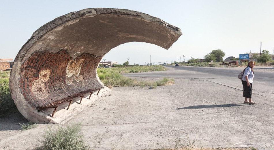Советская автобусная остановка — Армения, г. Эчмиадзин