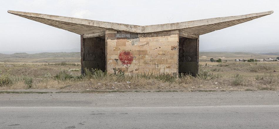 Советская автобусная остановка — Армения, г. Саратак