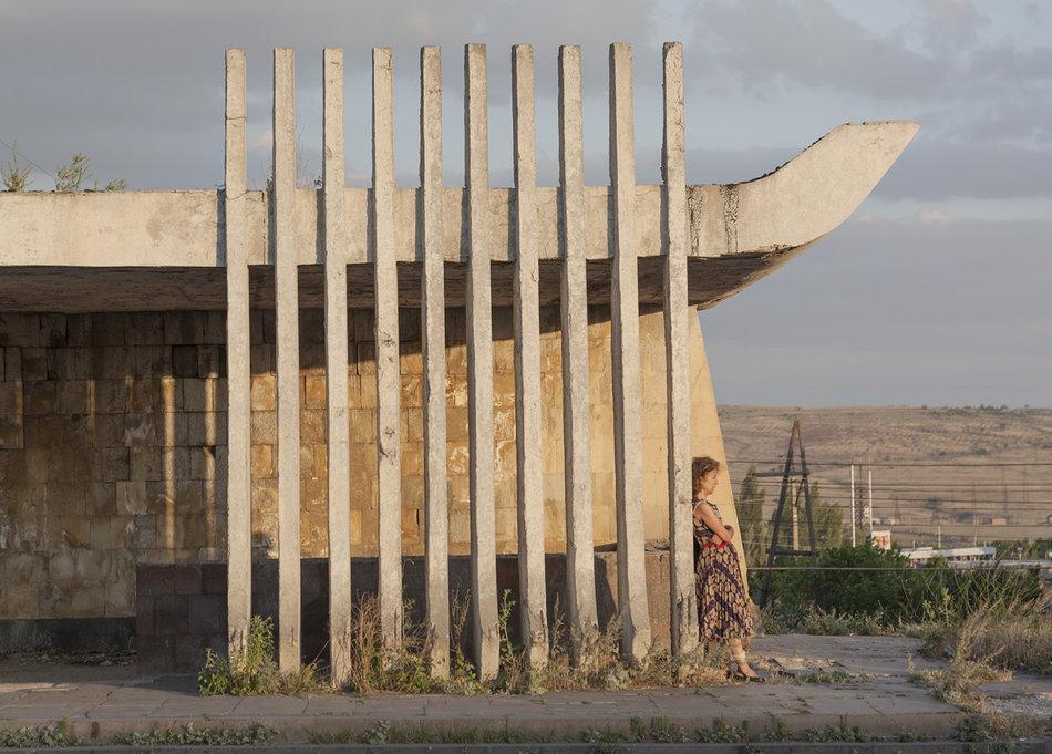 Советская автобусная остановка — Армения, г. Ереван №2
