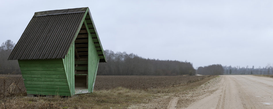 Советская автобусная остановка — Эстония, г. Каблакула