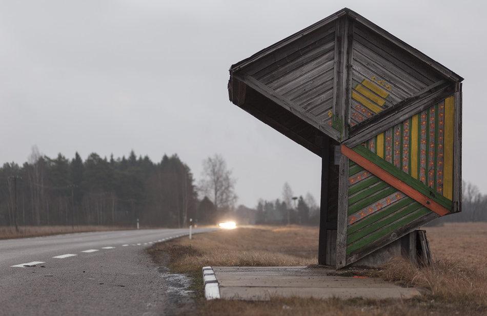 Советская автобусная остановка — Эстония, г. Коотси