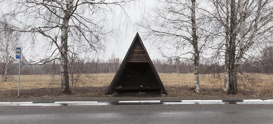 Советская автобусная остановка — Эстония, г. Наелавере
