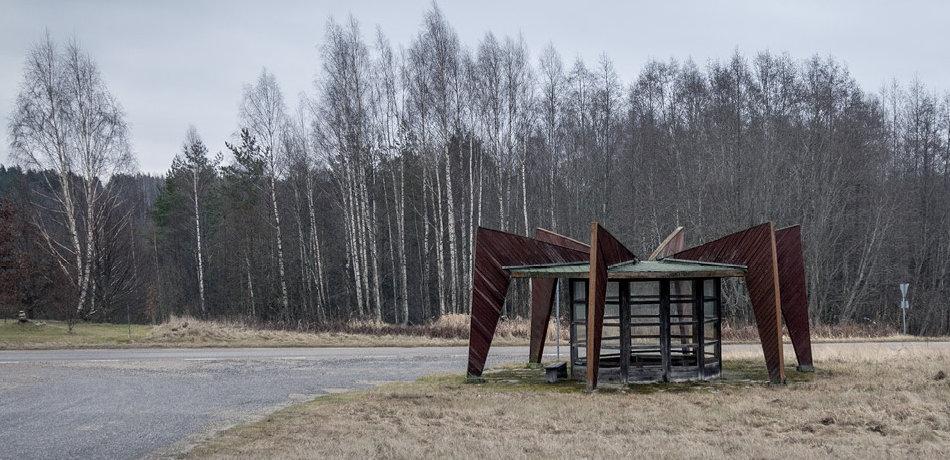 Советская автобусная остановка — Эстония, г. Ниитсику