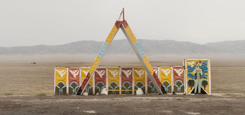 Советская автобусная остановка — Казахстан, г. Чарын