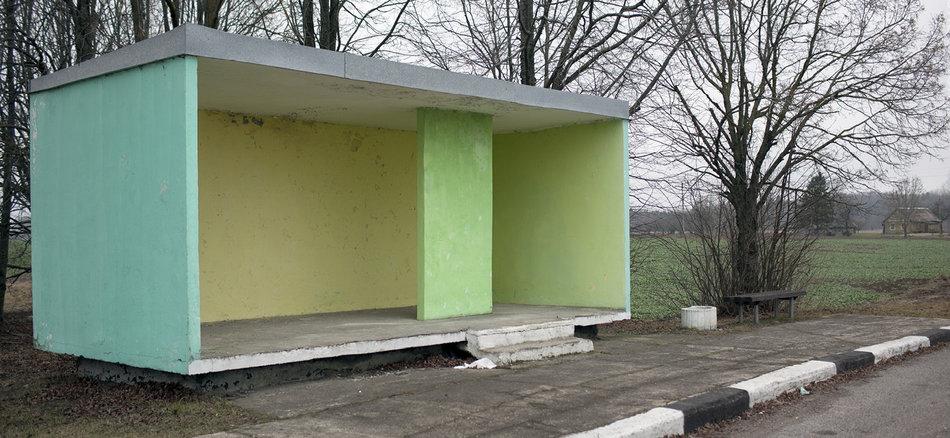 Советская автобусная остановка — Литва, г. Рокишкис