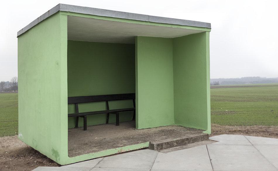 Советская автобусная остановка — Литва, г. Skverbai
