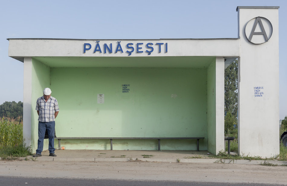Советская автобусная остановка — Молдова, г. Пэнэшешть