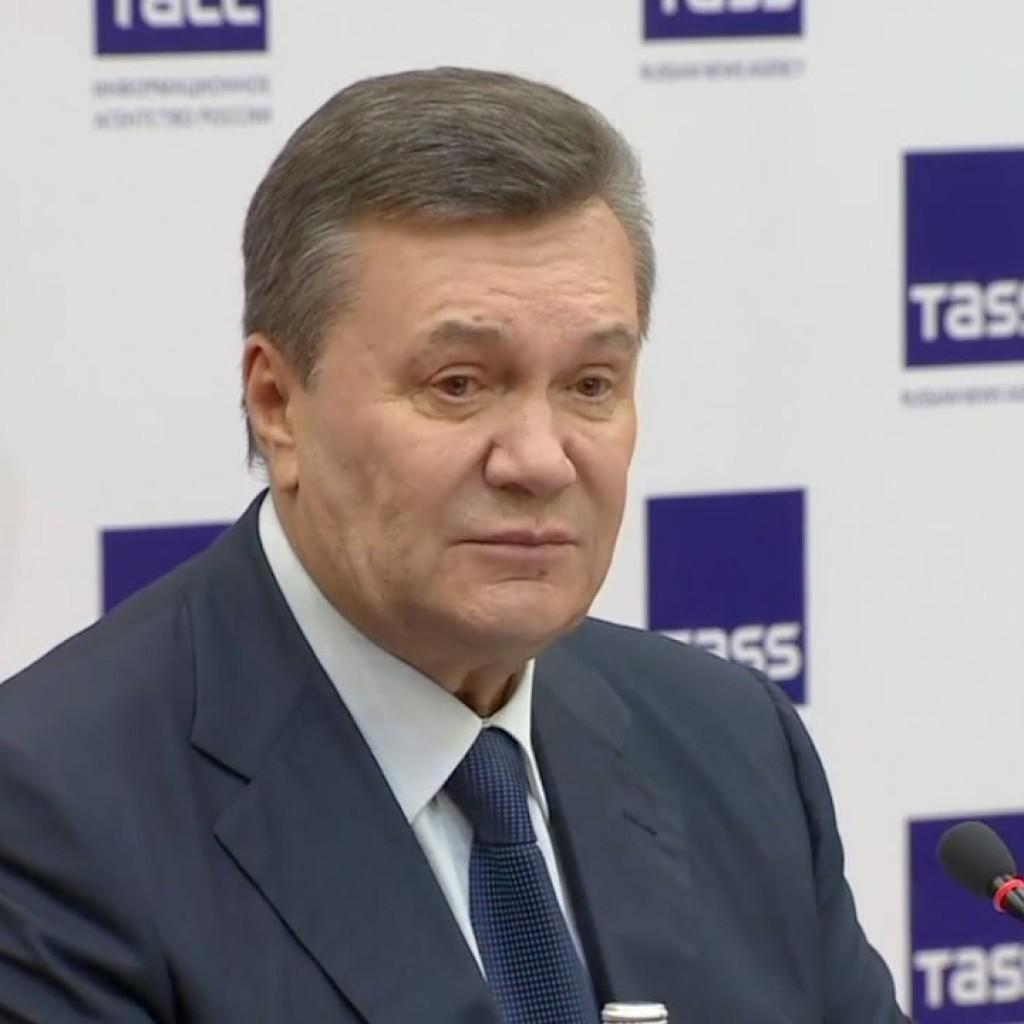 Пресс-конференция Виктора Януковича в ТАСС