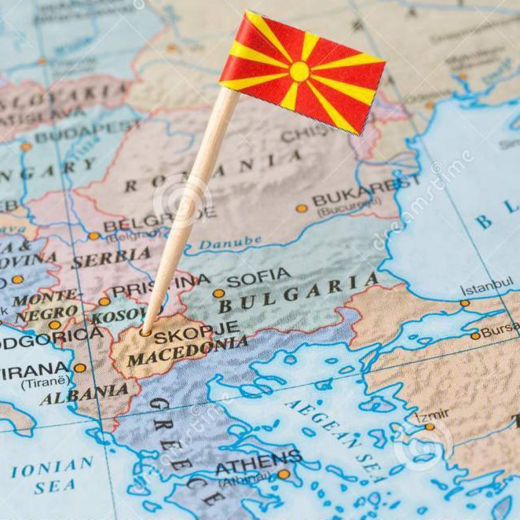 карта-македонии-и-штырь-флага-109257562