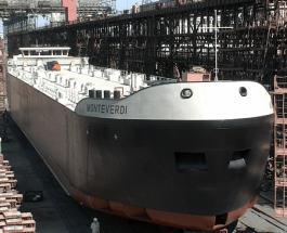 У Херсоні спустили  танкер для голландського замовника