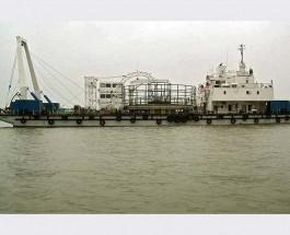В Керчь для прокладки подводного «энергомоста» на Кубань прибыл китайский кабелеукладчик JIAN JI 3001