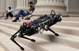 Рекордный прыжок слепого робота