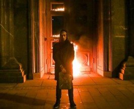Павленский поджег дверь Лубянки