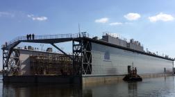 В Херсоне на воду спущен новый композитный док