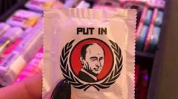 В США фото Путина появилось на презервативах
