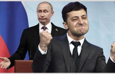 Владимир Путин в гонке за Владимиром Зеленским