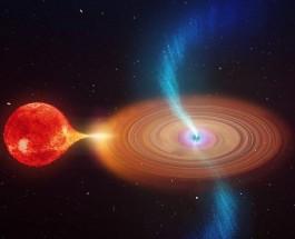 Качающийся джет черной дыры указал на вращение пространства-времени
