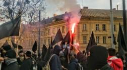 Во Львове прошел неанархистский марш в честь Нестора Махно