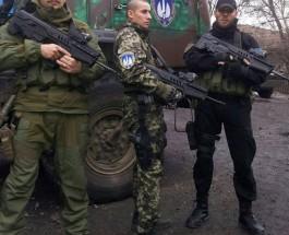 Украинские добровольцы получили современные автоматы