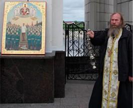 В России священник совершил богослужение с иконой Сталина
