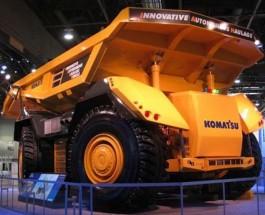 AHV — беспилотный карьерный самосвал компании Komatsu