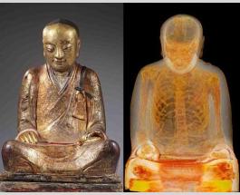 В статуе Будды обнаружили тысячелетнюю мумию