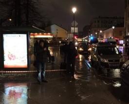 Взрыв бомбы на остановке в Москве